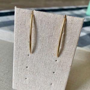 Stella & Dot Marlin gold earrings